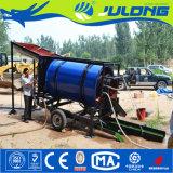 Impianto di lavaggio mobile del crivello a tamburo dell'oro per il lavaggio alluvionale dell'oro