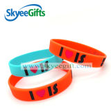 Competitive Priceの高品質Debossed Color Filled Silicone Bracelets