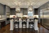 Во французском стиле дизайн с классическим Curving цельной древесины ПВХ Кухня Кухня кабинета министров кабинета