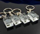 Cristallo Keychain del quadrato dell'anello portachiavi del regalo di promozione