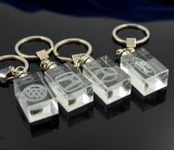 Кристалл Keychain квадрата Keyring подарка промотирования