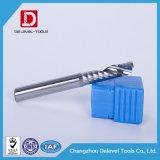 Molino de extremo de la flauta del carburo de la alta precisión solo para trabajar a máquina del CNC