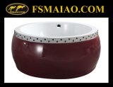 Moderner Entwurfs-Trommel-Form-freistehende Acrylbadewanne (BA-8507)