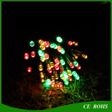 Projecteur solaire coloré de Parrty de mariage de lumière de chaîne de caractères de Noël de la décoration petit DEL de jardin avec 100 tubes