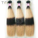 Virgem reta e sedosa Cabelos Peruano Ombre dois tons de cabelo humano