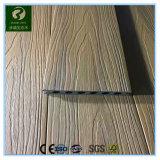 Decking redondo composto plástico de madeira do furo WPC com aprovaçã0 do GV