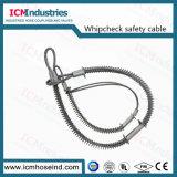 ホースで水を掛けるべきホースが付いている炭素鋼の鞭の小切手の安全ケーブル