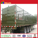 60 Toneladas Utilitário Stepwise semi reboque/ cavalo de gado reboque/ Carga a granel semi reboque do veículo