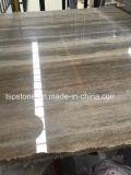 Las losas de mármol travertino de plata italiana para Proyecto