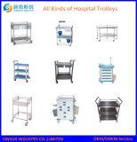 Carretilla en abanico de la aplicación del tratamiento médico del acero inoxidable del equipo del hospital