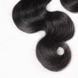 Уток 100% черных волос выдвижения человеческих волос объемной волны Brazalian естественный