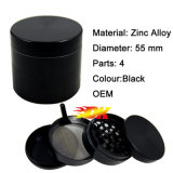 4capas 55mm de aleación de zinc Molinillo hierbas para el tubo de cigarrillos