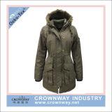 Moda Mujer Abrigo Parka acolchado Hoody chaqueta