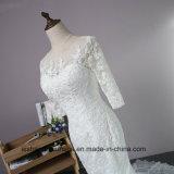 La dentelle robe de mariée de Mermaid avec manches longues Custom Made