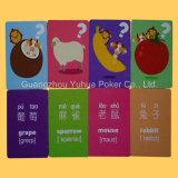 Las tarjetas educativas de Flashc de las tarjetas de los niños con crean para requisitos particulares