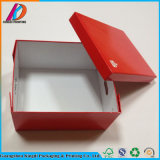 Caixa de empacotamento de dobramento lisa biodegradável do presente do cartão para sapatas