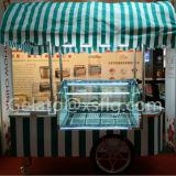Aduana cualquie color del carro del empuje del helado
