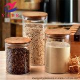 Venda por grosso de venda quente 100ml-1000ml jarro de vidro borossilicato de alta com tampa de madeira