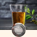 Achthoek/Hexagon Kop van de Thee van de Muur van het Glas van de Wijn van de Kop van het Glas Borosilicate Dubbele