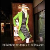 포스터 Texitile 가벼운 상자 Frameless 가벼운 상자를 광고하는 옥외 은행