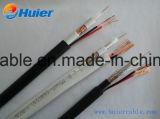 Cable caliente del CCTV Rg59 de la venta del precio bajo con los alambres de la potencia 18AWG