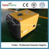 gerador de refrigeração do diesel da potência do caso 5kVA ar silencioso portátil