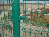 Rete fissa bilaterale altamente proteggente ricoperta PVC della rete metallica