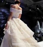 fuori dal vestito da cerimonia nuziale gonfio di sfera della spalla degli abiti del Organza nuziale del merletto G17808