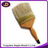 Cepillo de pintura de madera popular plateado de la maneta