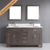 Fed-1952 Unique Double Sinks Grey Finishing Modern Bathroom Cabinets