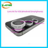 3 em 1 lente de Fisheye suprema Clip-on de 180 graus, lente larga do ângulo 0.67X, lente 10X macro para o &Android Smartphones do Ios