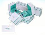 جديد بيضاء حلق مجوهرات هبة يعبّئ صندوق مع صنع وفقا لطلب الزّبون علامة تجاريّة