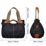 Borsa di modo della borsa 2018 di disegno del sacchetto della tela di canapa della signora Handbags Canvas Handbag Women di modo nuova (WDL0504)