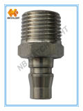 Conector rápido pneumático de aço inoxidável masculino