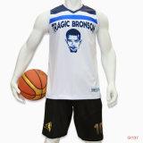Healongの在庫の上の販売のスポーツ・ウェアの昇華可逆バスケットボールジャージー