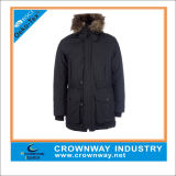 Оптовая торговля Зимняя куртка с удлиненной худи нанесите на мужчин Parka с мех