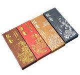 Rectángulos de papel impresos lujo del regalo de la cartulina para la pluma (FLB-9365)