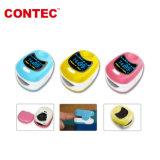Vertoning van de Kleur van Oximeter van de Baby van Contec Cms50qb de Aanbiddelijke Roze Blauwe Gele om Vingertop Oximeter zonder Pijn die van 20 Jaar van de Vervaardiging van China voelen