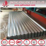 Tôle d'acier ondulée galvanisée plongée chaude de SGCC