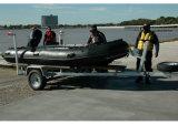 Pesca militar de goma inflable de /Sports del barco de motor 12persons de Aqualand el 16FT/del barco del rescate (aql-470)