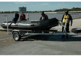 Aqualand 16FT 12persons 팽창식 고무 모터 배 또는 구조 군 배 /Sports 낚시질 (aql 470)