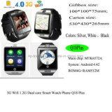 het Slimme Horloge van de Pols 3gwifi Bluetooth met gezondheid-Controleert en Camera Q18plus