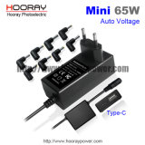 Mehrfache Adapter-Schaltungs-Stromversorgung des Laptop-65W mit justierbarer Spannungs-Laptop-Selbstaufladeeinheit mit USB C QC3.0 Typen-c schließt Gleichstrom-Adapter an den Port an