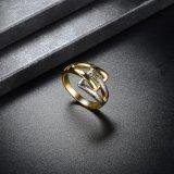 Кольцо золота и перста серебряных женщин ювелирных изделий способа Gp изготовленный на заказ