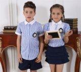 Personalizar la moda elegante de la escuela primaria del niño y niña S53106 uniforme