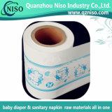 Matérias-primas das fraldas para bebés estratificados película PE Nonwoven fralda para a Chapa Traseira