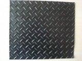 Anti-Silp caoutchouc en caoutchouc de plancher de saule de diamant de fil de feuille colorée en caoutchouc