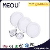 涼しい白6000kの円形か正方形LED Sufaceのパネル18W 8inch Downlight
