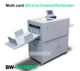 Corte de papel automático completo de A3 A4 Namecard que raja el cortador multi de la tarjeta del nombre comercial de la taladradora que arruga
