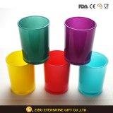 Tazza di vetro di colpo di stampa colorata per bere